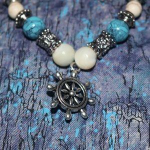 Blue and white Helm Bracelet